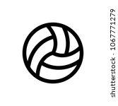 volleyball icon vector   Shutterstock .eps vector #1067771279