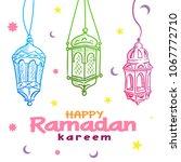 hand drawn fanous lantern for... | Shutterstock .eps vector #1067772710