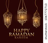 hand drawn fanous lantern for... | Shutterstock .eps vector #1067772713