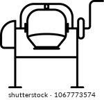 concrete mixer  concrete mixer... | Shutterstock .eps vector #1067773574