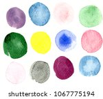 watercolors on paper | Shutterstock . vector #1067775194