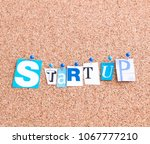 start up with copy space | Shutterstock . vector #1067777210