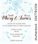 wedding invitation template...   Shutterstock .eps vector #1067781536