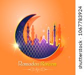 vector illustration of ramadan... | Shutterstock .eps vector #1067783924