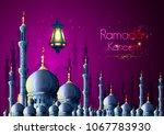 vector illustration of ramadan... | Shutterstock .eps vector #1067783930