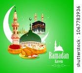 vector illustration of ramadan... | Shutterstock .eps vector #1067783936