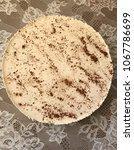 piece of cake in plate   Shutterstock . vector #1067786699