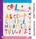 colorful modern alphabet for...   Shutterstock .eps vector #1067790914