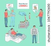 marrow bone donation sketch... | Shutterstock .eps vector #1067792600