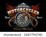 wheel and wings   motorcycle... | Shutterstock .eps vector #1067793740