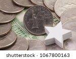 a quarter of new york  quarters ...   Shutterstock . vector #1067800163