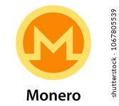 monero icon. flat illustration... | Shutterstock .eps vector #1067805539