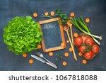 food ingredients  kitchen... | Shutterstock . vector #1067818088