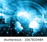 best internet concept of global ... | Shutterstock . vector #1067833484