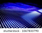 blue toned led wall close up | Shutterstock . vector #1067833790