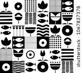 folk art pattern in...   Shutterstock .eps vector #1067837378