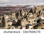 view on goreme village ... | Shutterstock . vector #1067838170