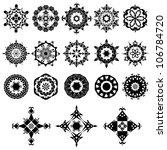 vector set of ornate design... | Shutterstock .eps vector #106784720