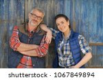couple of farmers standing in...   Shutterstock . vector #1067849894