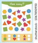 counting educational children... | Shutterstock .eps vector #1067850950