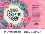 summer time quote lettering...   Shutterstock .eps vector #1067860424