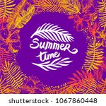 summer time quote lettering...   Shutterstock .eps vector #1067860448