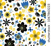 amazing floral vector seamless... | Shutterstock .eps vector #1067863223