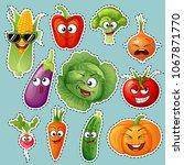 cartoon vegetable characters.... | Shutterstock .eps vector #1067871770
