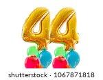 golden number 44 forty four... | Shutterstock . vector #1067871818