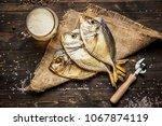 close up dried fish  vintage... | Shutterstock . vector #1067874119