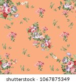 flowers pattern.for textile ... | Shutterstock . vector #1067875349