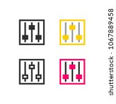 equalizer settings icon | Shutterstock .eps vector #1067889458