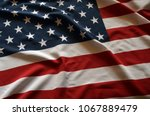 american flag background | Shutterstock . vector #1067889479