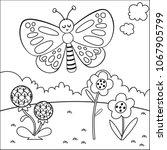 black and white cartoon... | Shutterstock .eps vector #1067905799