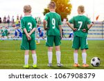 children football team. young... | Shutterstock . vector #1067908379