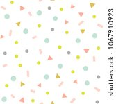 abstract confetti vector... | Shutterstock .eps vector #1067910923