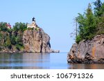 Split Rock Lighthouse On Cliff