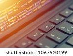 closeup coding  programming on... | Shutterstock . vector #1067920199