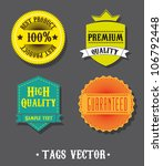 colorful tags over gray... | Shutterstock .eps vector #106792448