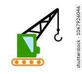 crane icon   vector... | Shutterstock .eps vector #1067926046