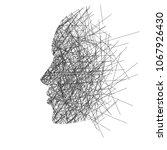 stylized face in profile ...   Shutterstock .eps vector #1067926430