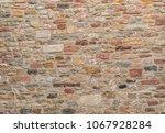 An Old Sandstone Castel Wall