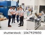engineering team meeting on... | Shutterstock . vector #1067929850
