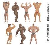 bodybuilder sportsman vector...   Shutterstock .eps vector #1067930318