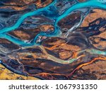aerial view and top view river... | Shutterstock . vector #1067931350