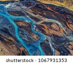 aerial view and top view river... | Shutterstock . vector #1067931353