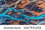aerial view and top view river... | Shutterstock . vector #1067931356