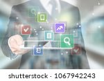 data protection regulation... | Shutterstock . vector #1067942243