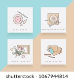 set of four line icons... | Shutterstock .eps vector #1067944814