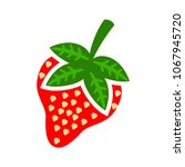 vector strawberry illustration... | Shutterstock .eps vector #1067945720